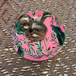 NWT Lily Pulitzer monkey ring holder